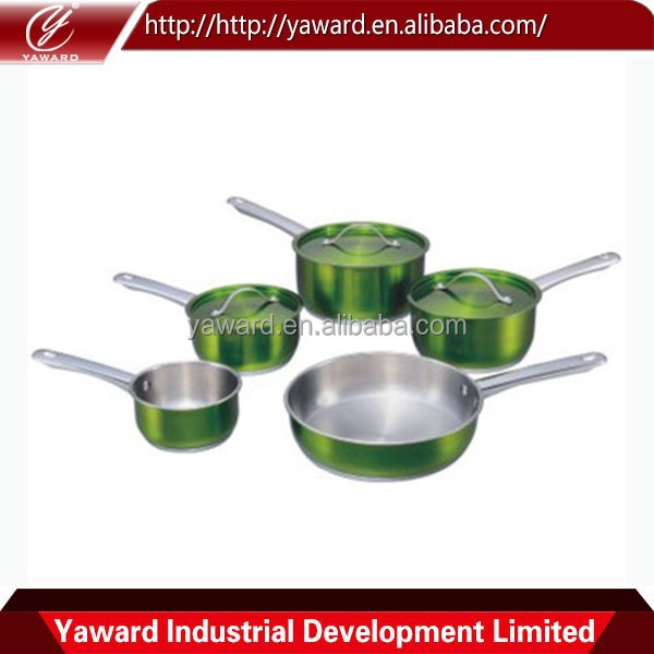 2015 High Quality New Design Stainless Steel 7Pc Cookware Set