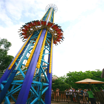 china direct ride thrilling playground ride sky drop tower free fall ride for sale
