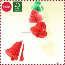 Handmade Crafts Red Christmas Bell Garland Paper Handicraft
