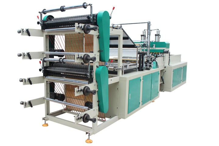 wenzhou two layers or four layers bag hot sealing and cold cutting plastic pp woven bag making machine