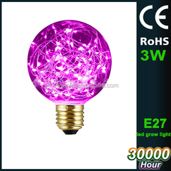 Copper wire g45 3w led bulb light,glass housing decoration led bulb lamp color changing