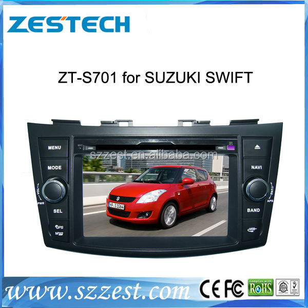ZESTECH DVD Wholesale car radio for Suzuki Swift car radio In Car DVD GPS Sat Nav auto stereos 2 din head units