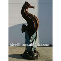 Bronze seahorse sculptures for home decoration