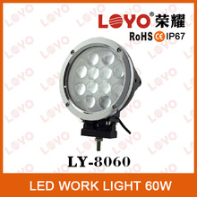 "Newest High Quality 7"" 60W round LED Driving Light For Jeep, truck"
