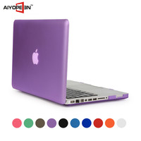 Rubber Coating Plastic Smart Cover Case for Macbook Matte Hard Case Cover for Apple Macbook pro 15.4 inch with 10 colors