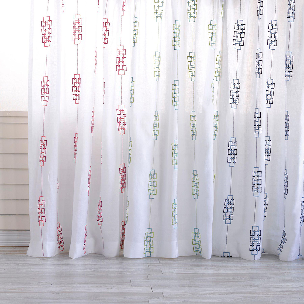 Latest curtain styles Islamic cafe room divider embroidered curtain drape