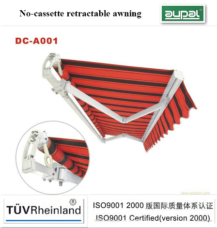 European style no cassette folding arm awnings(manual)