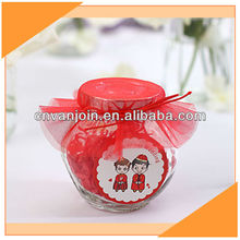 Wedding Mini Glass Candy Jar