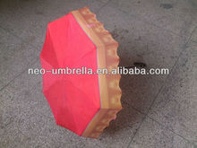 Fashion bottle cap umbrella for beer promotion