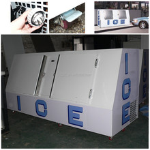 60Cu.Ft. outdoor gas station ice storage bin ice freezers CE approved