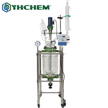 Best reactors in China 20l jacketed chemical glass reactor