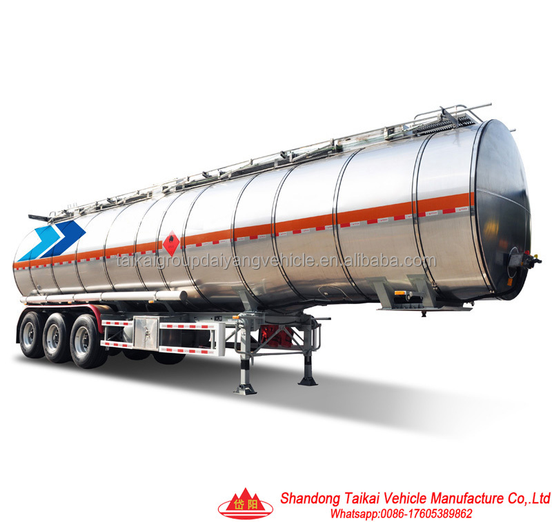 Cimc Quality 45 M3 Tri Axle Fuel Tank Semi Trailer/aluminum Alloy Tanker/liquid Tanker Semi Trailer