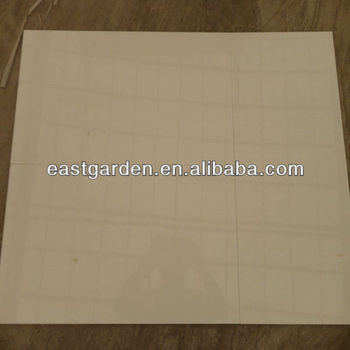 Ceramic floor tile with bevel edge
