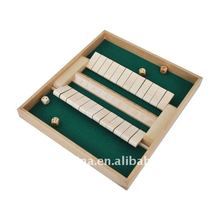 Double-Sided Wooden Shut the Box Game