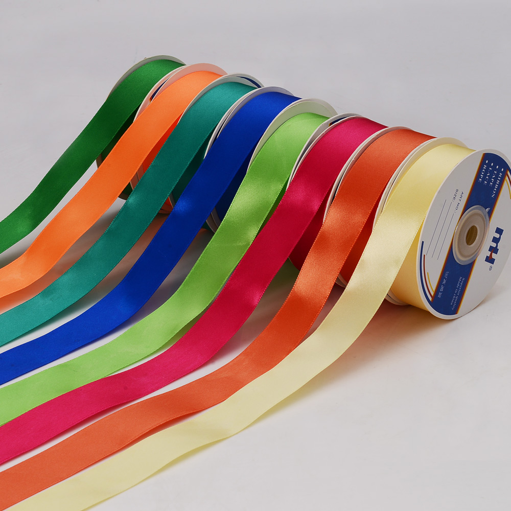 1 Inch 25mm/2.5cm Polyester Satin Ribbon Single Faced