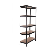 5 tier metal boltless garage warehouse storage rack shelf