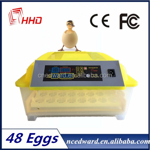 2016 best selling full automatic 48 egg capacity mini hatchery incubator for sale with oversea after-sale service