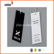 All kinds of water resistant jacron paper hangtag for jeans garment
