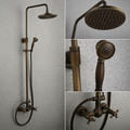 new luxury Antique copper bathroom shower set faucet Mixer tap