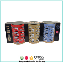 Best Shallow Round Tin Cans Metal deep Sugar Box