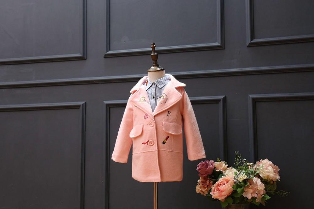 de la moda nuevo modelo nios gruesas de invierno ms el tamao de solapa abrigos