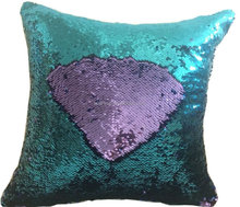chinese factory fancy for home decor shiny car seat cushion Reversible Sequins Mermaid Pillow 2017 hot sale