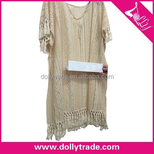 Wholesale Women Sexy Bikini Cover Up Embroidered Long Beach Dress