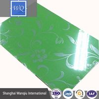 glossy uv mdf for sliding door/ 3d wall paper