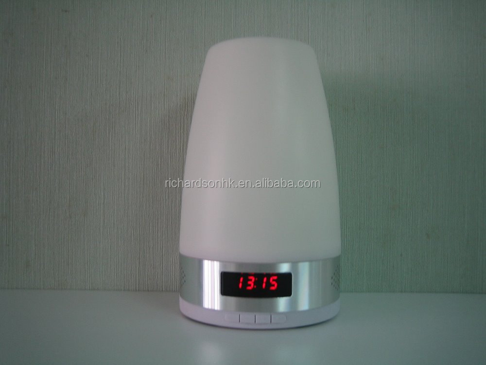 LED Night Light with Bluetooth Speaker function and Alarm clock