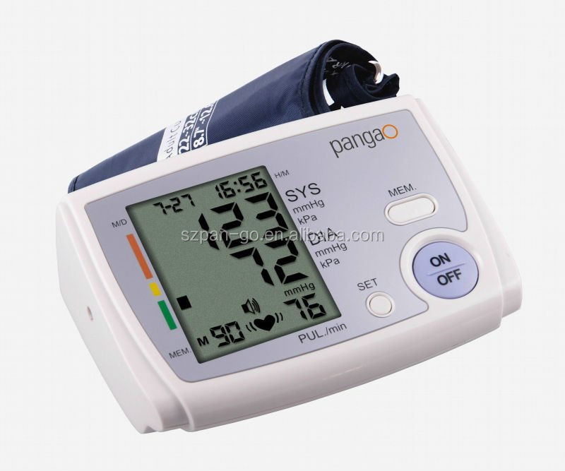 PG-800B5 large screen big cuff free portable stand blood pressure monitor with ce iso