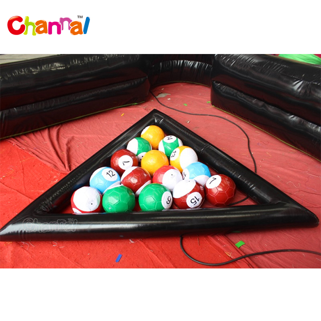Commercial inflatable billiard soccer pool table game for sale