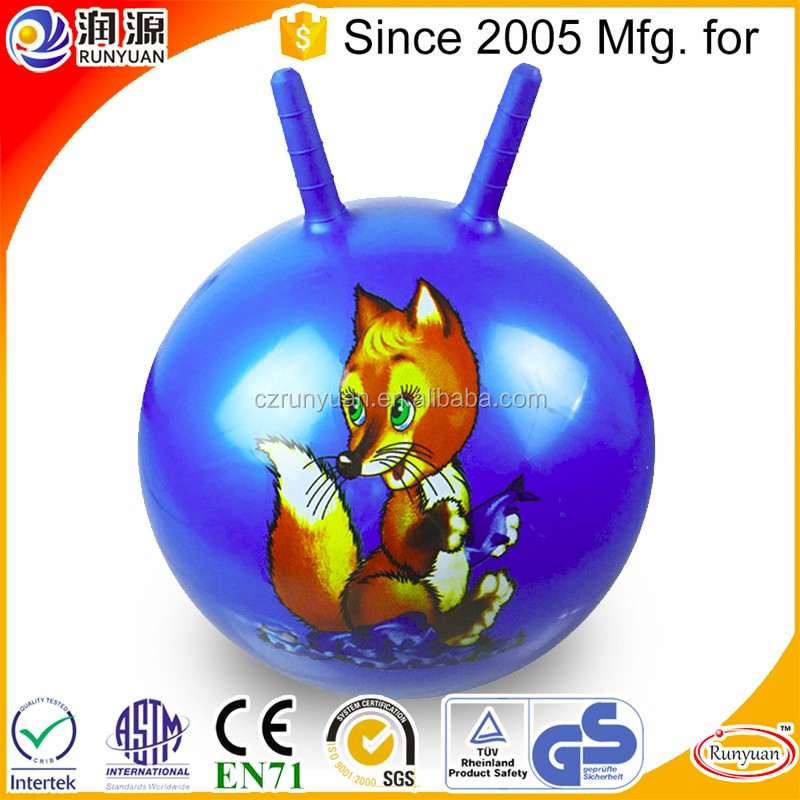 custom Sheep-horn jumping ball hopping ball make with ECO-friendly PVC material