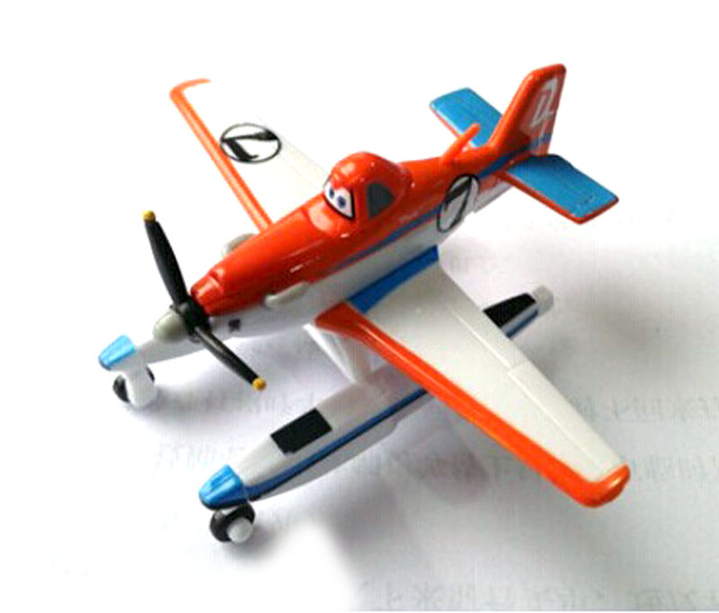 100% Original Pixar Planes Wings Around the Globel Pontoon Dusty 1:55 Diecast Kids Toys Plane Toys For Children Loose