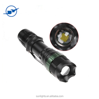 most powerful long range led flashlight torch popular Aluminum tactical flashlight