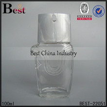 Promotion clear glass body for perfume liquid glass bottle perfume,2015 hot alibaba customized design crimp on neck pump spray