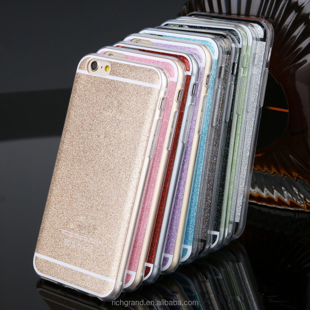 Soft Gel TPU Bling Glitter Candy Phone Case cover For iphone5 /6 Plus