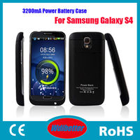 New Arrival 3200mAh Portable Battery For Samsung Galaxy S4 I9500 External Backup Power Bank Charger Case For S4 I9500