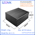 custom Professional electronic extruded aluminum cabinet project box diy controller case for PCB