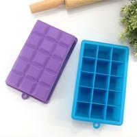 15 Cavity Square Silicone ice cube mould mini ice cream maker toy