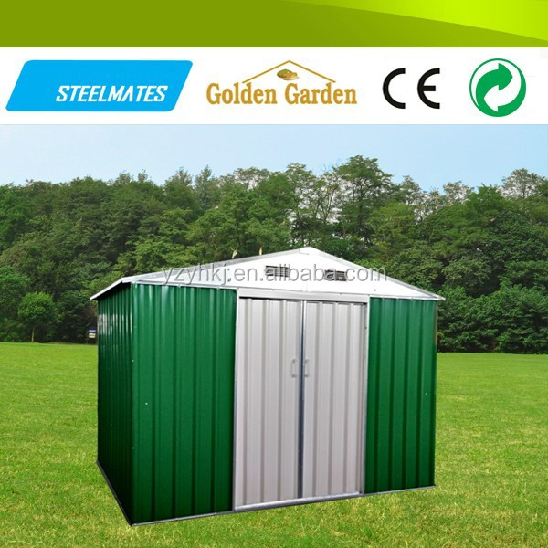 Durable flat pack high snow load metal storage house