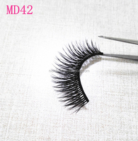 distributor indonesia 3D synthetic fiber eyelash full handmde fake eyelash