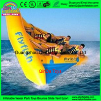 0.9mm PVC tarpaulin inflatable water games inflatable flying banana inflatable flying manta ray