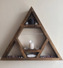 Triangle geometric wall floating shelf for home decoration