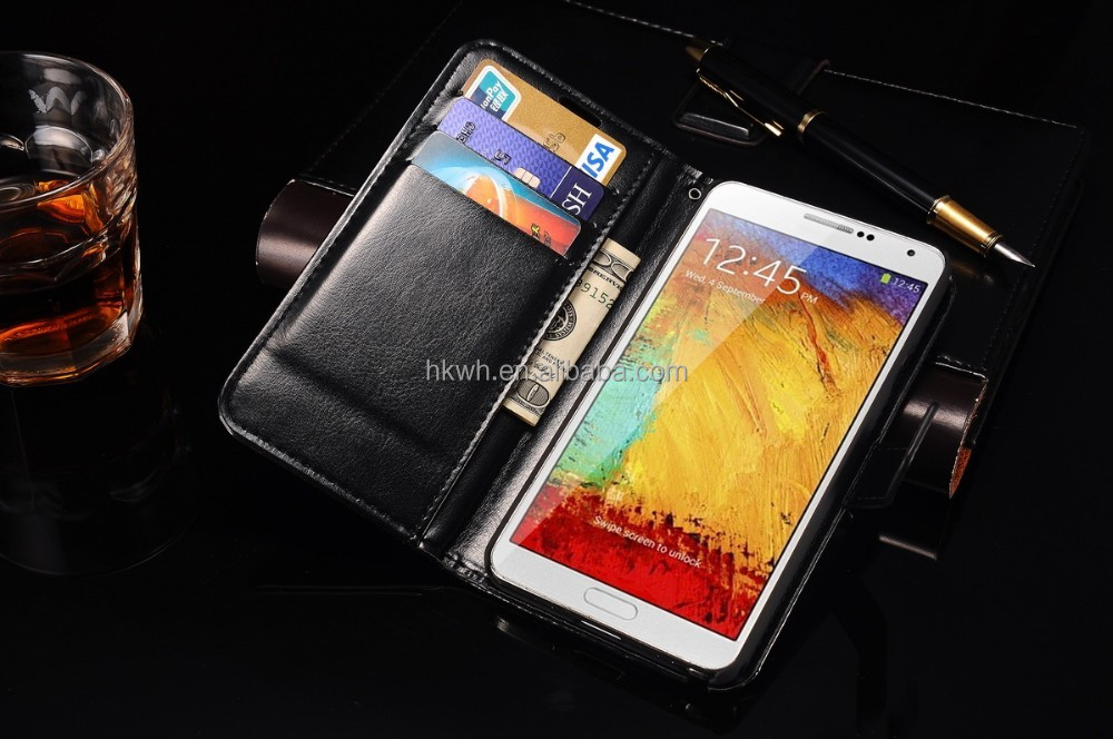 Case for samsung note 3/ 5, Magnet Wallet flip Cover PU Leather case for samsung galaxy s3 s4 s5 s6 s6 edge note 2 3 4 j4 j5 j7