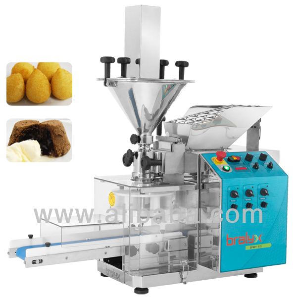 Coxinha making machine forming and encrusting machine