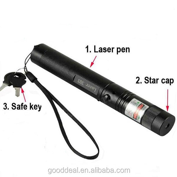 303 Laser Pointer Adjustable Focus Lazer Pen Light Burning Beam Starry Head green red blue  laser pointer pen