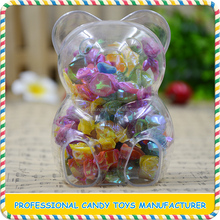 Cheap clear plastic bear shape candy box for package