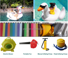 giant inflatable pool swan for water party play game