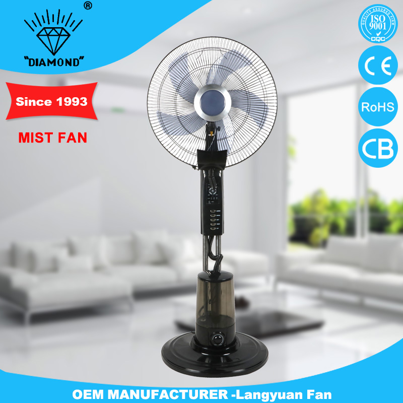 factory indoor outdoor cool water mist fan with remote control