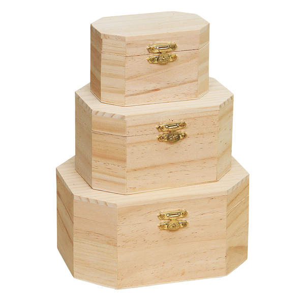 BSCI and FSC pine wood handmade natural color cheap wood gift packaging box
